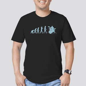 Evolution of Drumming Men's Fitted T-Shirt (dark)