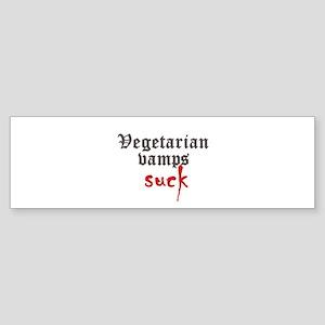Vegetarian Vamps Suck Bumper Sticker