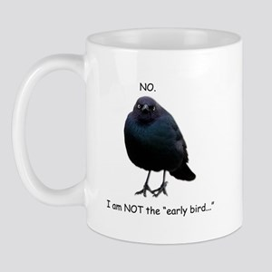 Blackbird of Grumpiness- NOT the early bird mug
