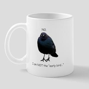 Blackbird of Grumpiness- NOT the early bird mug