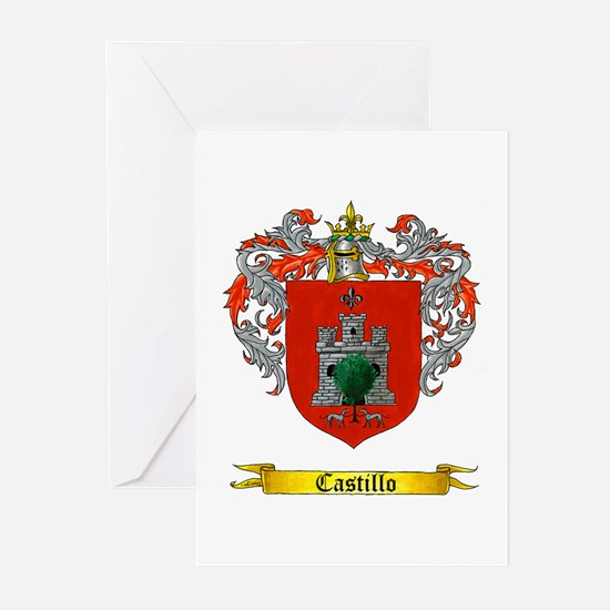 Castillo Family crest Greeting Cards (Pk of 10