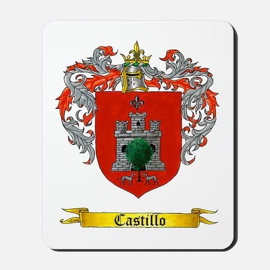 Castillo Family crest Mousepad
