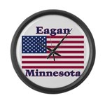 Eagan Flag Large Wall Clock