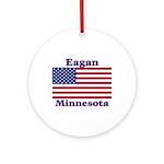 Eagan Flag Ornament (Round)