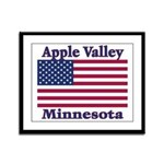 Apple Valley Flag Framed Panel Print