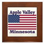 Apple Valley Flag Framed Tile