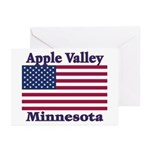 Apple Valley Flag Greeting Cards (Pk of 10)