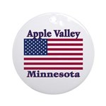 Apple Valley Flag Ornament (Round)