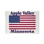 Apple Valley Flag Rectangle Magnet (100 pack)