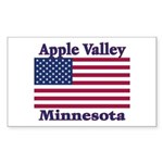 Apple Valley Flag Rectangle Sticker