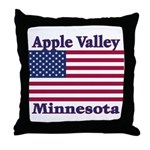 Apple Valley Flag Throw Pillow