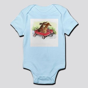 Red Wagon Dachshund Infant Creeper