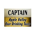 Apple Valley Beer Drinking Team Rectangle Magnet (