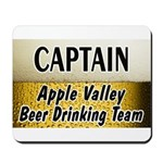 Apple Valley Beer Drinking Team Mousepad