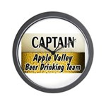 Apple Valley Beer Drinking Team Wall Clock