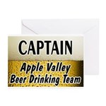 Apple Valley Beer Drinking Team Greeting Cards (Pk