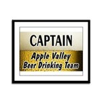 Apple Valley Beer Drinking Team Framed Panel Print