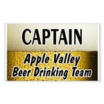 Apple Valley Beer Drinking Team Rectangle Sticker