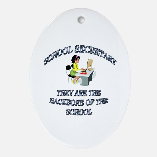 Cute Middle school Oval Ornament