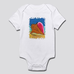 Conch Shell on Beach Infant Bodysuit