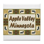 Apple Valley Loon Tile Coaster