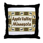 Apple Valley Loon Throw Pillow