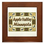 Apple Valley Loon Framed Tile