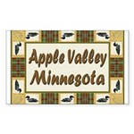 Apple Valley Loon Rectangle Sticker 10 pk)