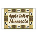 Apple Valley Loon Rectangle Sticker 50 pk)