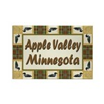 Apple Valley Loon Rectangle Magnet