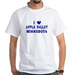I Love Apple Valley Winter White T-Shirt