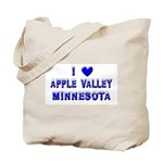 I Love Apple Valley Winter Tote Bag