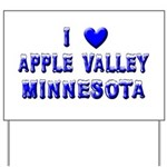 I Love Apple Valley Winter Yard Sign