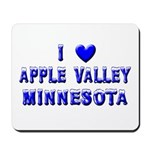 I Love Apple Valley Winter Mousepad
