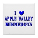 I Love Apple Valley Winter Tile Coaster