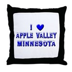 I Love Apple Valley Winter Throw Pillow