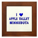 I Love Apple Valley Winter Framed Tile