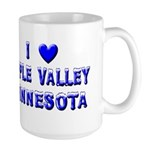 I Love Apple Valley Winter Large Mug