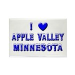 I Love Apple Valley Winter Rectangle Magnet