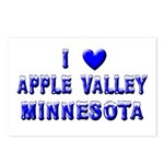 I Love Apple Valley Winter Postcards (Package of 8