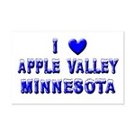I Love Apple Valley Winter Mini Poster Print