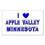 I Love Apple Valley Winter Rectangle Sticker 50 p