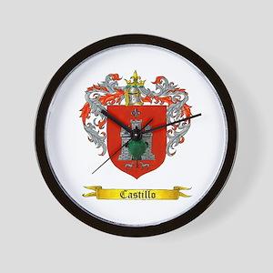 Castillo Family crest Wall Clock
