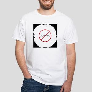 No Alcohol White T-Shirt
