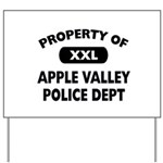 Property of Apple Valley Police Dept Yard Sign