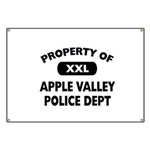 Property of Apple Valley Police Dept Banner