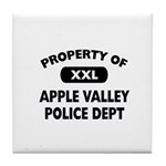 Property of Apple Valley Police Dept Tile Coaster