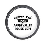Property of Apple Valley Police Dept Wall Clock