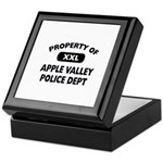 Property of Apple Valley Police Dept Keepsake Box