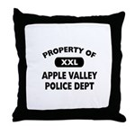 Property of Apple Valley Police Dept Throw Pillow